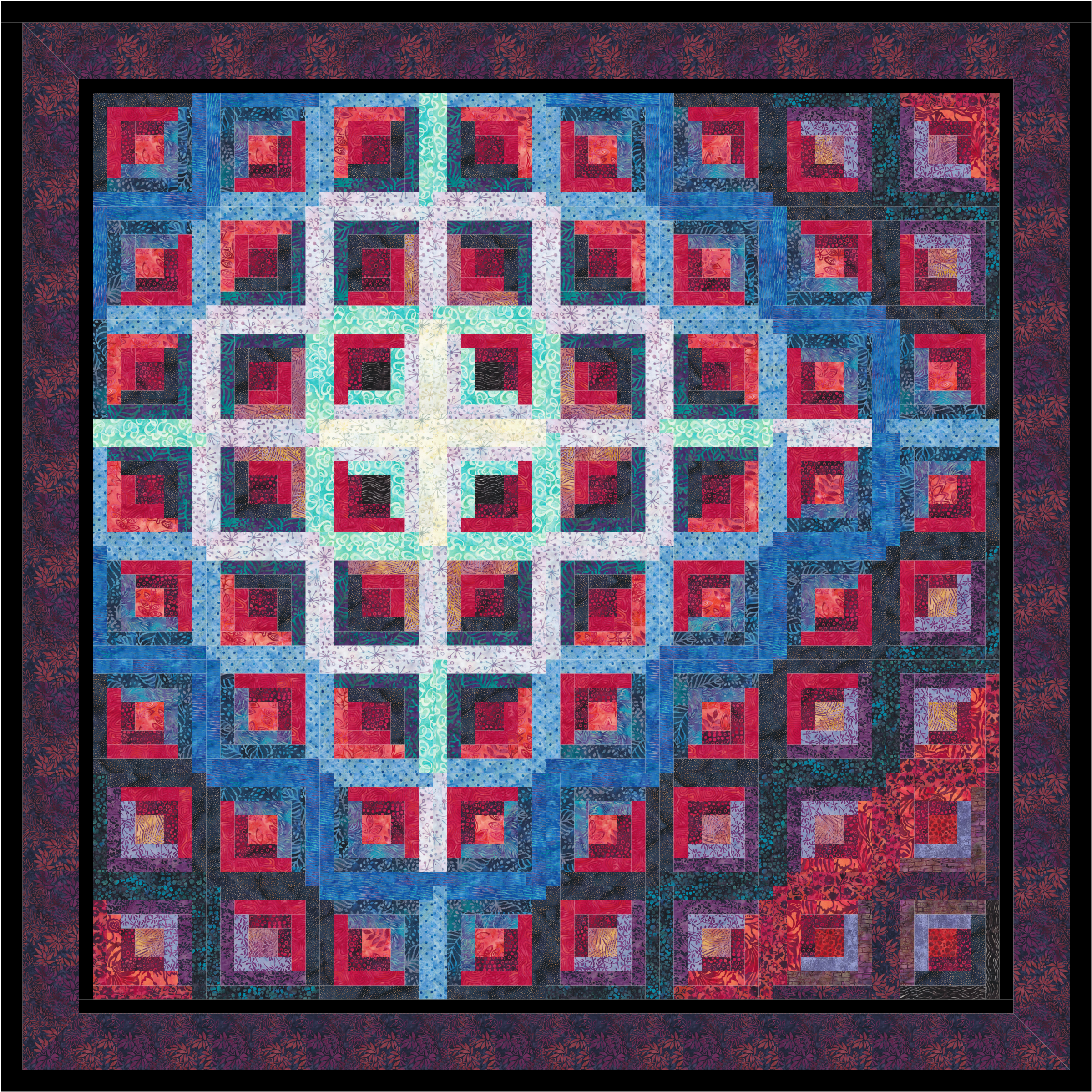 Pulsar Quilt Piecing Design