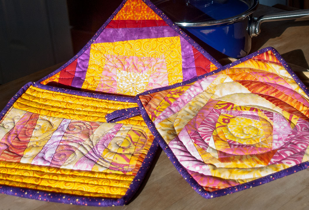 Potholder in burning sun